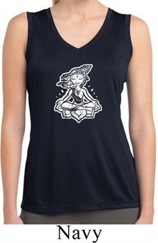 Ladies Yoga Shirt Krishna Sleeveless Moisture Wicking Tee T-Shirt