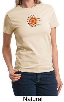 Ladies Yoga Shirt Larger Sizes Sleeping Sun Meditation T-shirt