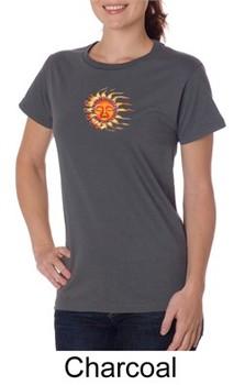 Ladies Yoga Shirt Sleeping Sun Meditation Organic T-shirt
