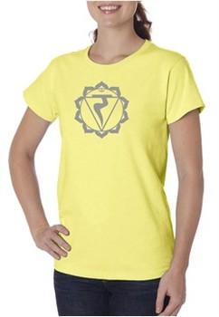 Ladies Yoga Shirt Manipura Chakra Meditation Organic T-shirt