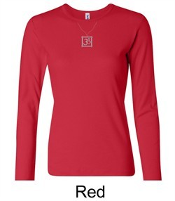 Ladies Yoga T-shirt ? Aum Charm Meditation Long Sleeve Shirt
