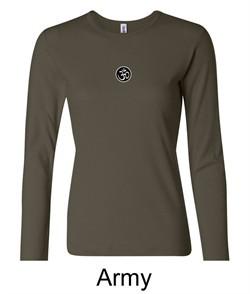 Ladies Yoga T-shirt ? Aum Patch Meditation Long Sleeve Shirt