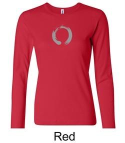 Ladies Yoga T-shirt ? Enso Zen Meditation Long Sleeve Shirt