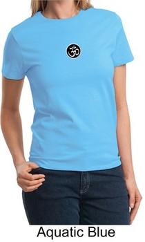 Ladies Yoga T-shirt ? Larger Sizes Aum Patch Tee Shirt