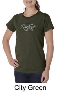Ladies Yoga T-shirt ? Namaste Big Print Organic Tee Shirt