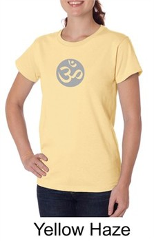 Ladies Yoga T-shirt ? Om Symbol Big Print Organic Tee Shirt