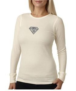 Ladies Yoga T-Shirt Super OM Small Print Thermal Shirt