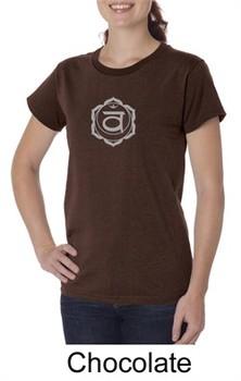 Ladies Yoga T-shirt Swadhisthana Chakra Symbol Organic Tee Shirt