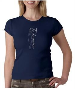 Ladies Yoga T-shirt Tadasana Mountain Pose Crew Neck Shirt