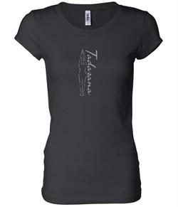 Ladies Yoga T-shirt Tadasana Mountain Pose Longer Length Shirt