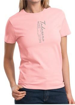 Ladies Yoga T-shirt Tadasana Mountain Pose Tee