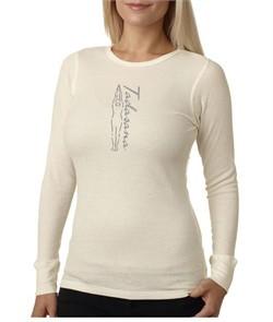 Ladies Yoga T-shirt Tadasana Mountain Pose Thermal Shirt