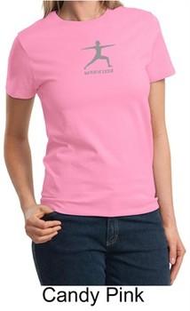 Ladies Yoga T-shirt ? Warrior 2 Pose Meditation Tee Shirt