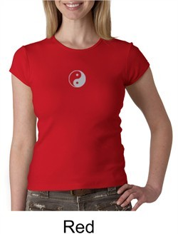 Ladies Yoga T-shirt ? Yin Yang Meditation Crew Neck Shirt