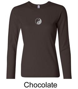 Ladies Yoga T-shirt ? Yin Yang Meditation Long Sleeve Shirt
