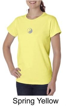 Ladies Yoga T-shirt ? Yin Yang Meditation Organic Tee Shirt