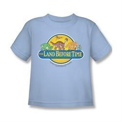 Land Before Time Shirt Kids Dino Breakout Light Blue Youth Tee T-Shirt