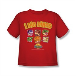 Land Before Time Shirt Kids I Dig Dinos Red Youth Tee T-Shirt