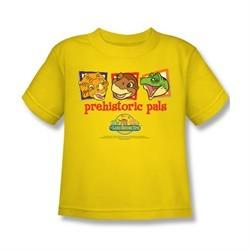 Land Before Time Shirt Kids Prehistoric Pals Yellow Youth Tee T-Shirt