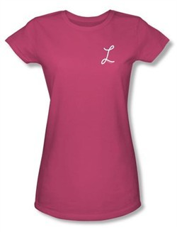 Laverne and Shirley Juniors Shirt Laverne's L Hot Pink T-Shirt