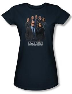 Law & Order: SVU Shirt Juniors Team Navy Tee T-Shirt