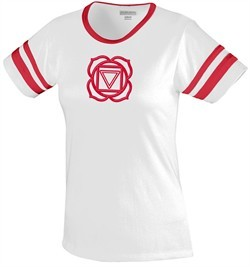 Ladies Yoga T-shirt ? Muladhara Meditation Camp Tee Shirt