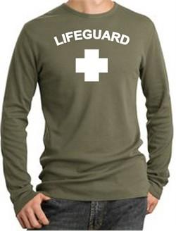 Lifeguard T-shirt Thermal Long Sleeve Adult Shirt