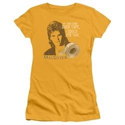 MacGyver Juniors Shirt Duct Tape Gold T-Shirt