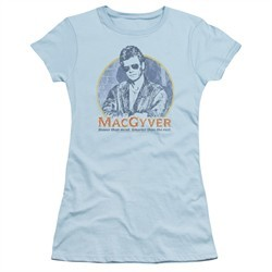 MacGyver Juniors Shirt Title Light Blue T-Shirt