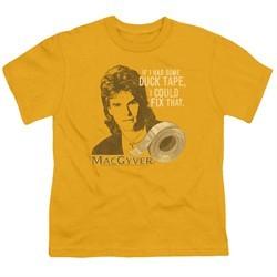 MacGyver Kids Shirt Duct Tape Gold T-Shirt