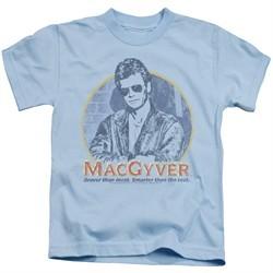 MacGyver Kids Shirt Title Light Blue T-Shirt