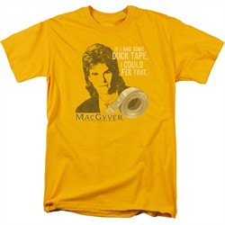 MacGyver Shirt Duct Tape Gold T-Shirt