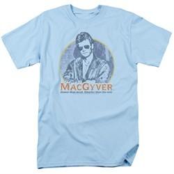 MacGyver Shirt Title Light Blue T-Shirt