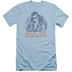 MacGyver Slim Fit Shirt Title Light Blue T-Shirt