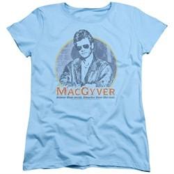 MacGyver Womens Shirt Title Light Blue T-Shirt