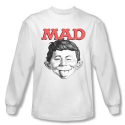 Mad Magazine Shirt U Mad Long Sleeve White Tee T-Shirt