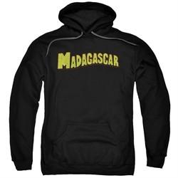 Madagascar Hoodie Logo Black Sweatshirt Hoody