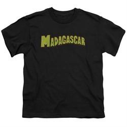 Madagascar Kids Shirt Logo Black T-Shirt
