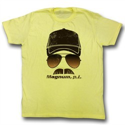 Magnum PI Shirt In Your Face Adult Yellow Tee T-Shirt