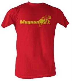 Magnum PI T-shirt Beach Logo Classic Adult Red Tee Shirt