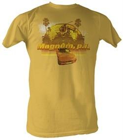 Magnum PI T-shirt Magnums Toys Adult Mustard Tee Shirt