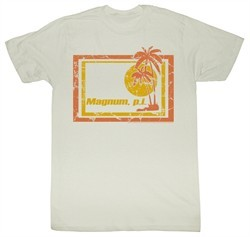 Magnum PI T-shirt Wrecked Classic Adult Dirty White Tee Shirt