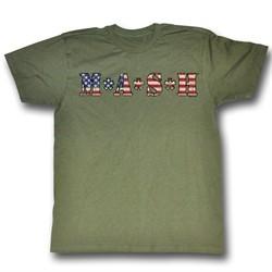 MASH Shirt American MASH Adult Army Green Tee T-shirt