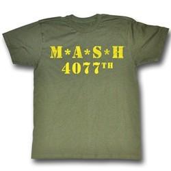 MASH Shirt MASH Adult Army Green Tee T-shirt