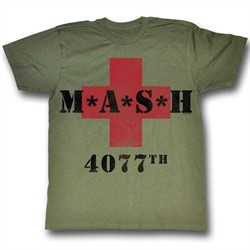 MASH Shirt MASH4077B Adult Army Green Tee T-shirt