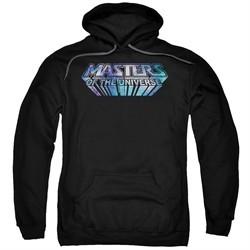 Masters Of The Universe Hoodie Sweatshirt Space Logo Black Adult Hoody Sweat Shirt