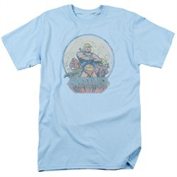 Masters Of The Universe Shirt He Man And Crew Adult Light Blue Tee T-Shirt