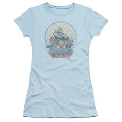 Masters Of The Universe Shirt Juniors He Man And Crew Light Blue Tee T-Shirt