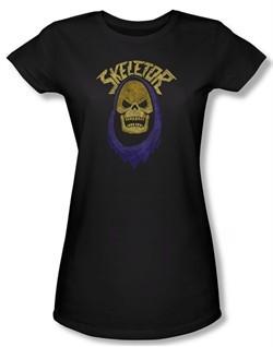 Masters Of The Universe Shirt Juniors Skeletor Hood Black Tee