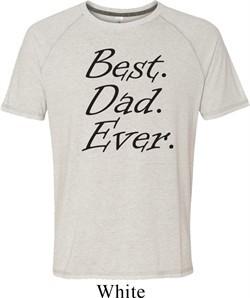 Mens Dad Shirt Best Dad Ever Black Print Tri Blend Tee T-Shirt